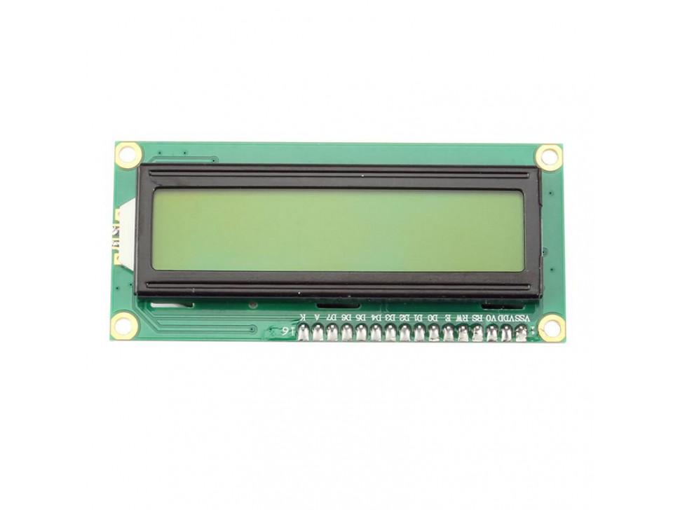 LCD I2C 1602 Display Module Yellow