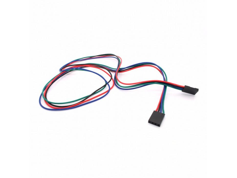 Jumper Wire 4Pin Dual Female 70cm