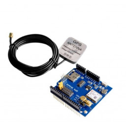 NEO-6M GPS Shield With MicroSD Interface for Arduino