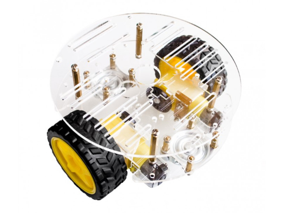 Round Robot Chassis Kit 2WD with DC Motors
