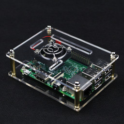 Raspberry Pi 3 Acrylic Case with Cooling Fan