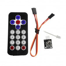 Wireless Remote Control with Infrared IR Receiver