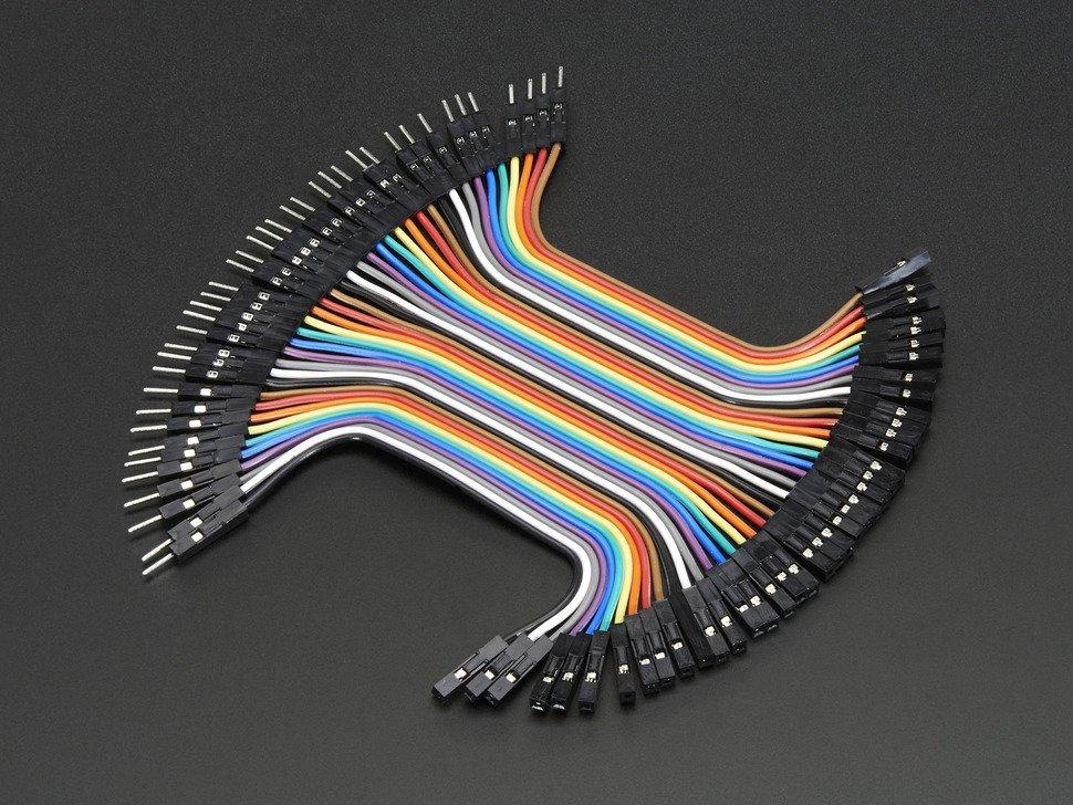 Jumper Wires Male - Female 10cm 20PCS