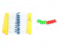 Electronics Kit LED Resistor 1K 10K 100K 220 1/4W
