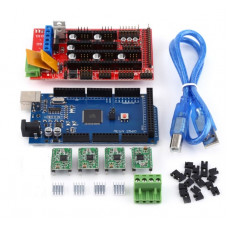 3D Printer Sets RAMPS 1.4 Controller + MEGA2560 R3 + A4988 + Heat Sink + USB Cable