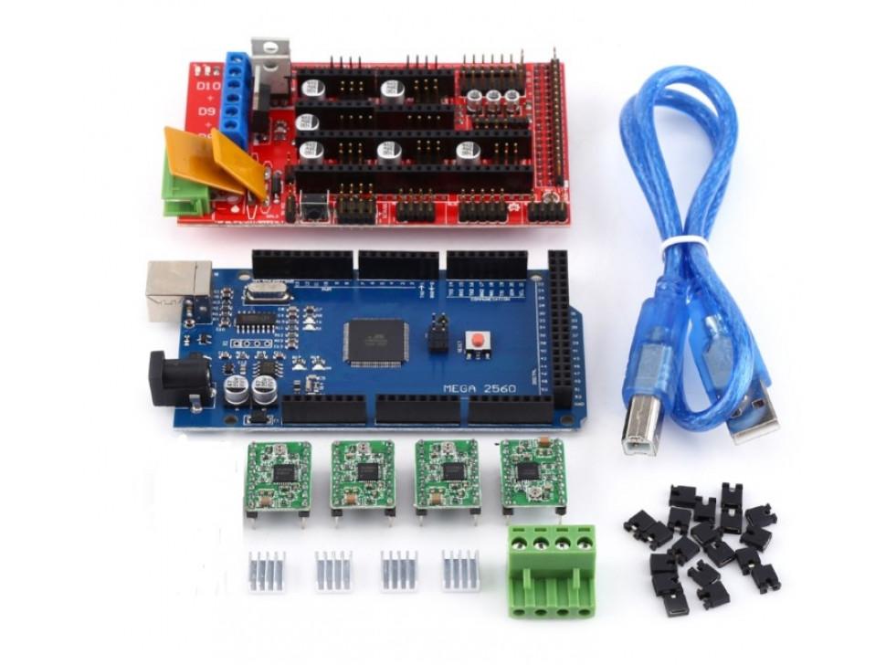 3D Printer Sets RAMPS 1.4 Controller + MEGA2560 R3 + A4988 + Heat Sink + USB Cable