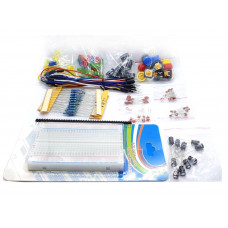 Electronics Kit LED Capacitor Wires Breadboard Resistor