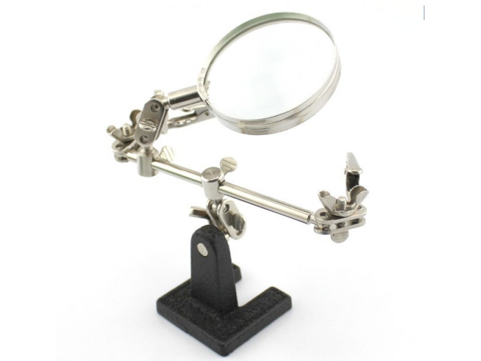 Third Hand with Magnifying Glass Tool