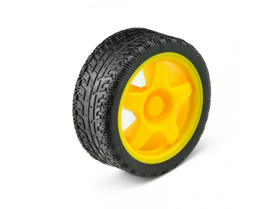 Wheel Rubber Tire A2WD 65mm