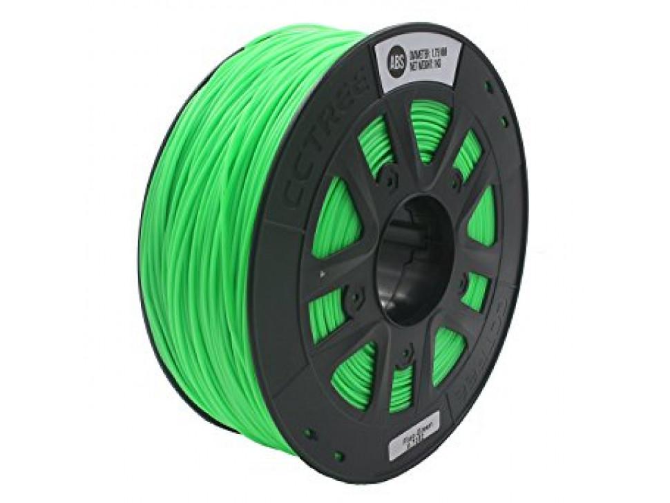 CCTREE ABS 3D Printing Filament 1.75mm FLOURESCENT GREEN