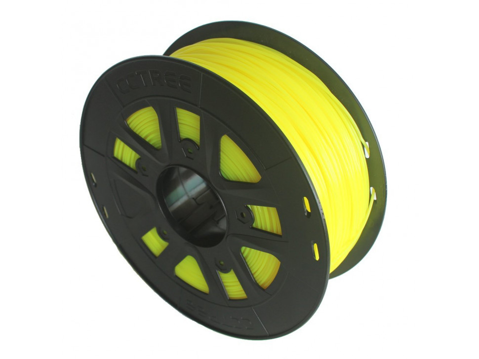 CCTREE ABS 3D Printing Filament 1.75mm FLUORESCENT YELLOW