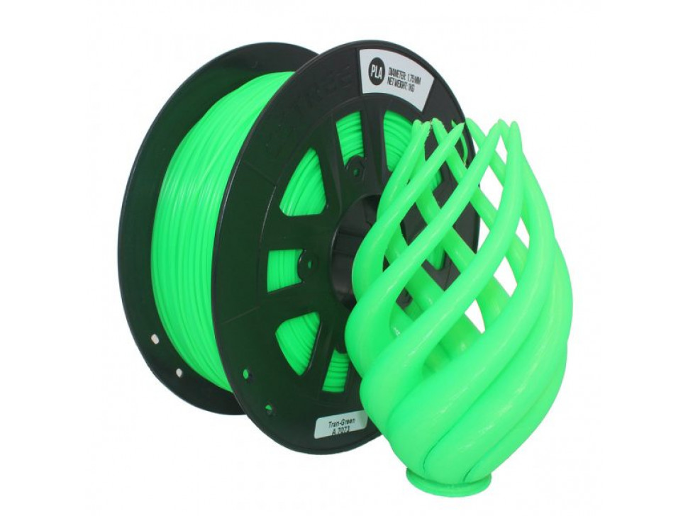 CCTREE PLA 3D Printing Filament 1.75mm TRANSPARENT GREEN