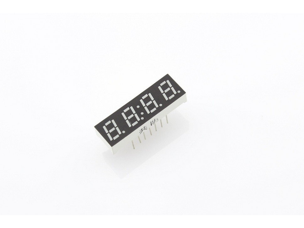 """Four Digit Numeric Time Display 0.28"""" Red Common Cathode"""