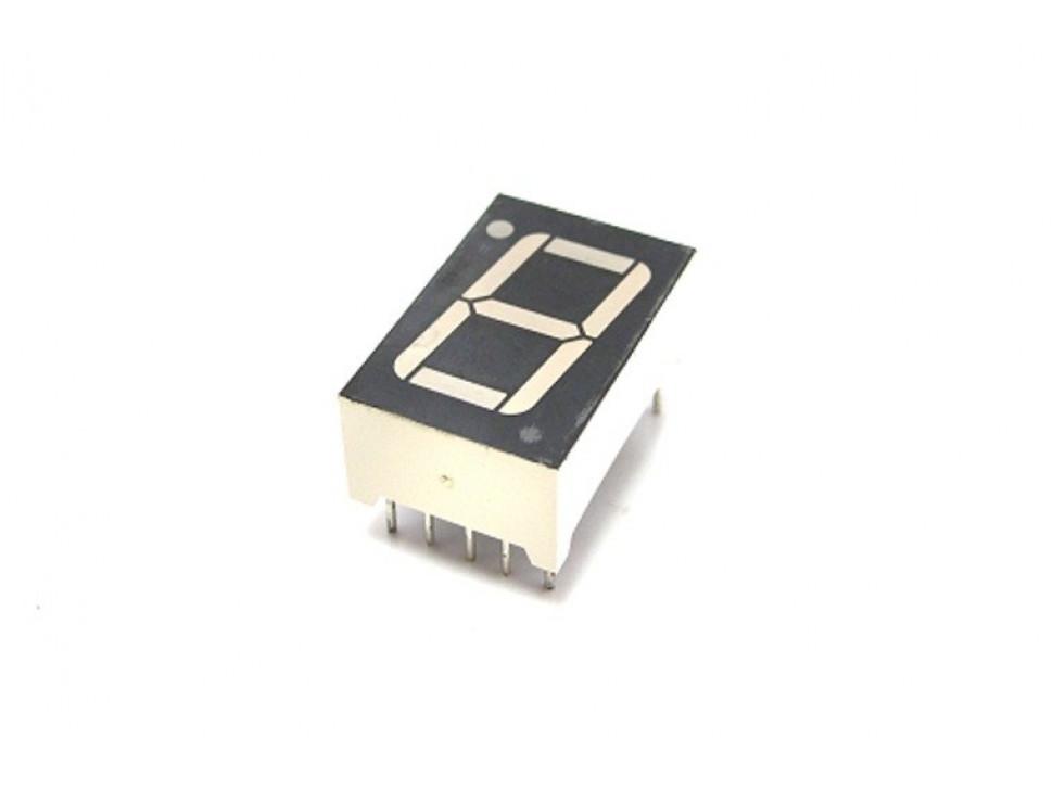 "Numeric Single Digit Display 0.56"" Red Common Cathode"