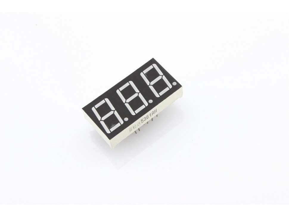 "Triple Digit Numeric Display 0.56"" Red Common Cathode"