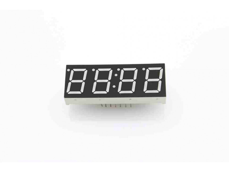 """Four Digit Numeric Display 0.56"""" Red Common Anode"""