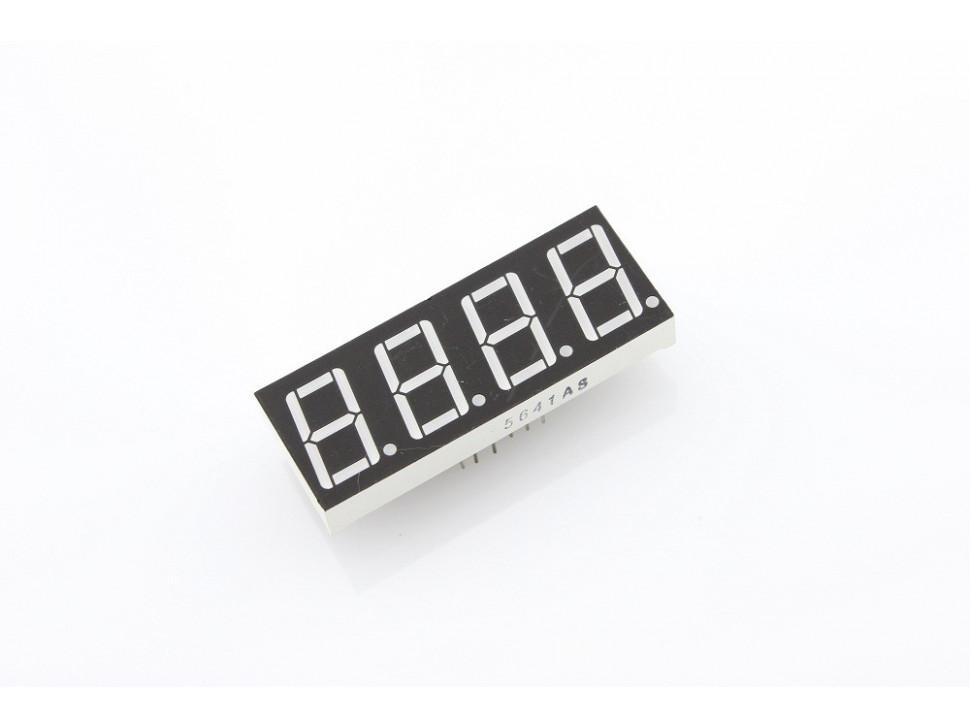 "Four Digit Numeric Display 0.56"" Red Common Cathode"