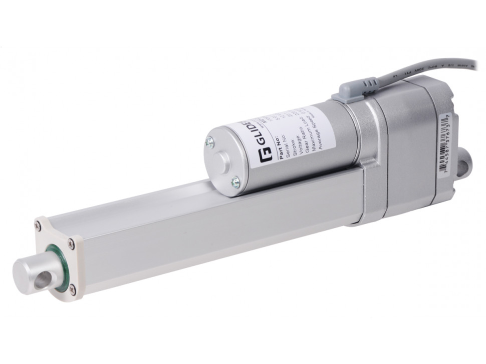 """Glideforce MD122006-P Medium-Duty Linear Actuator with Feedback: 100kgf, 6"""" Stroke (5.9"""" Usable), 0.58""""/s, 12V"""