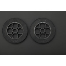 Rubber Wheel 136×24mm Pair