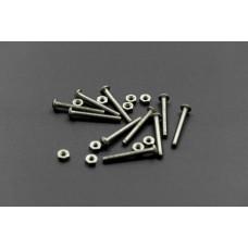 Screw M3x25 low profile hex head cap screw 10 sets