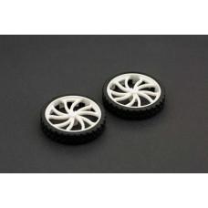Rubber Wheel N20 ABS 43x9mm Pair