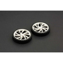 Rubber Wheel N20 ABS 43x9mm Pair
