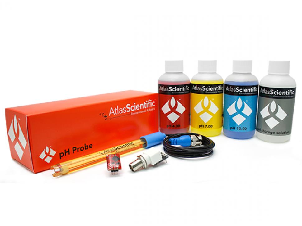 pH Meter Sensor Kit Arduino Raspberry Pi Compatible Atlas Scientific