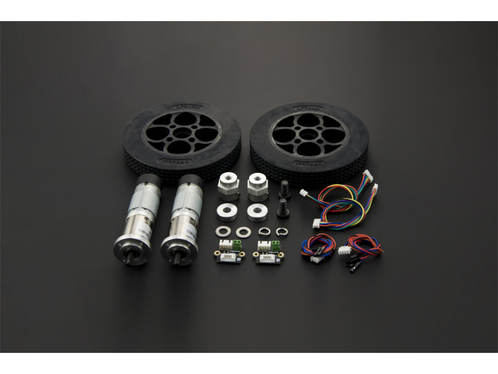 Motor and Rubber Wheel Kit