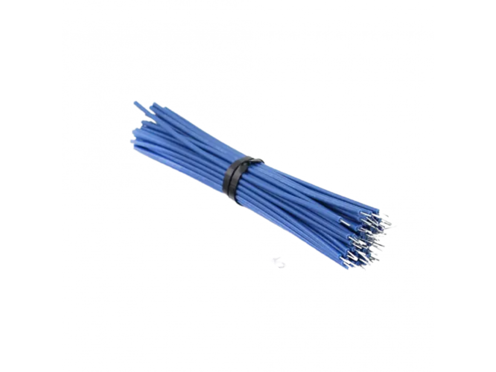 Tin Plated Breadboard PCB Solder Cable 24AWG 10CM Blue