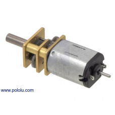 Micro Metal 50:1 Gearmotor HP 6V with Extended Motor Shaft