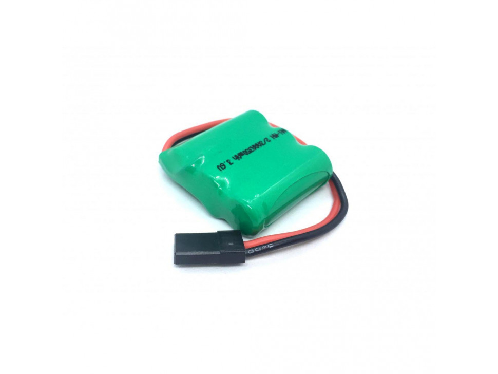 Battery Rechargeable NiMH Pack 3.6 V 350 mAh 3x1 2/3-AAA Cells