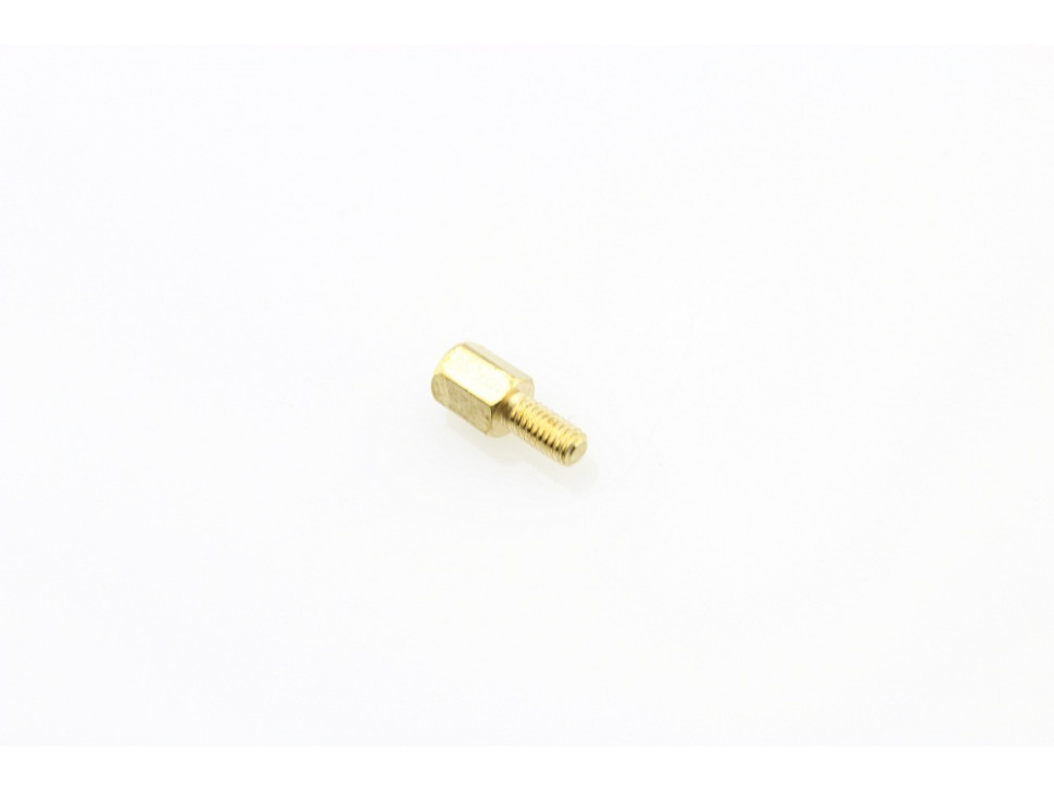 M3 6mm+6mm Hexagon Copper Cylinders (5Pcs Pack)