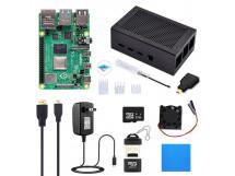 Raspberry Pi 4 4GB Kit Aluminum Case + Heatsink + Cable + SD Card