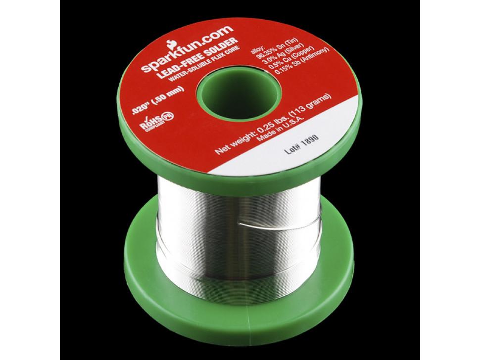 Solder Spool 1/4lb 0.5mm Lead Free