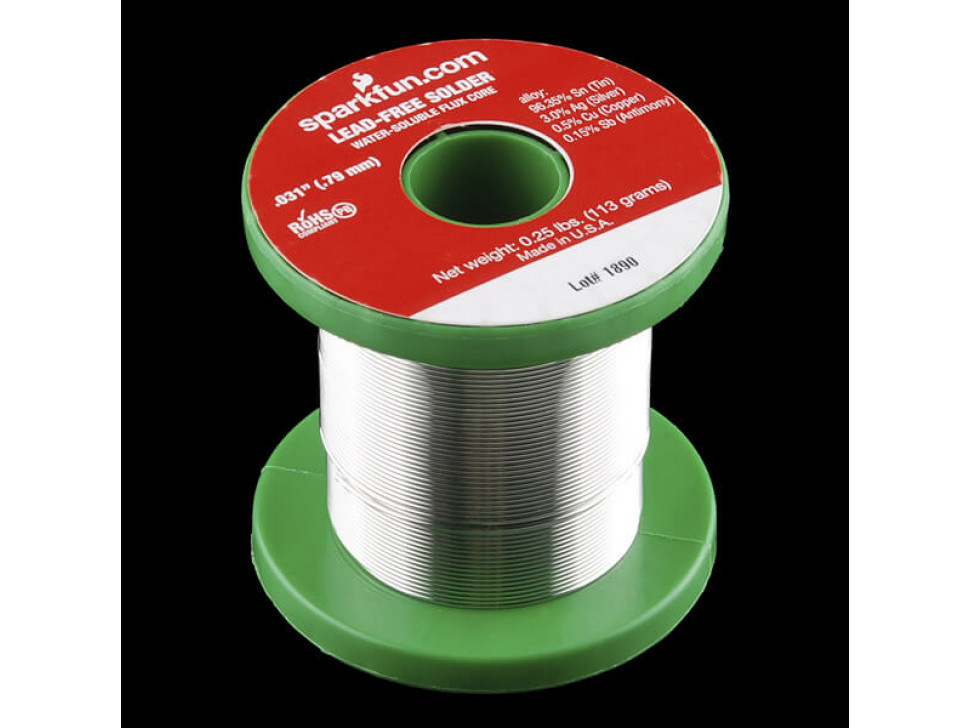 Solder Spool 1/4lb 0.8mm Lead Free
