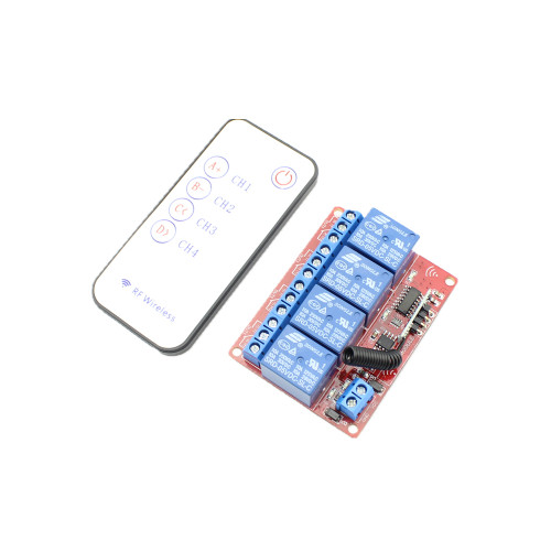 RF Remote Control Module 4 Channels  DC 5V